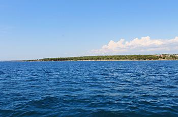 Brijuni vor der kroatischen Küste mit dem Boot besuchen
